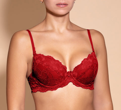 Women's Red color Push Bra, size 75A (88980)