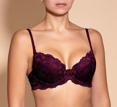 Women's Push up Bra, Deep violet color (88980)
