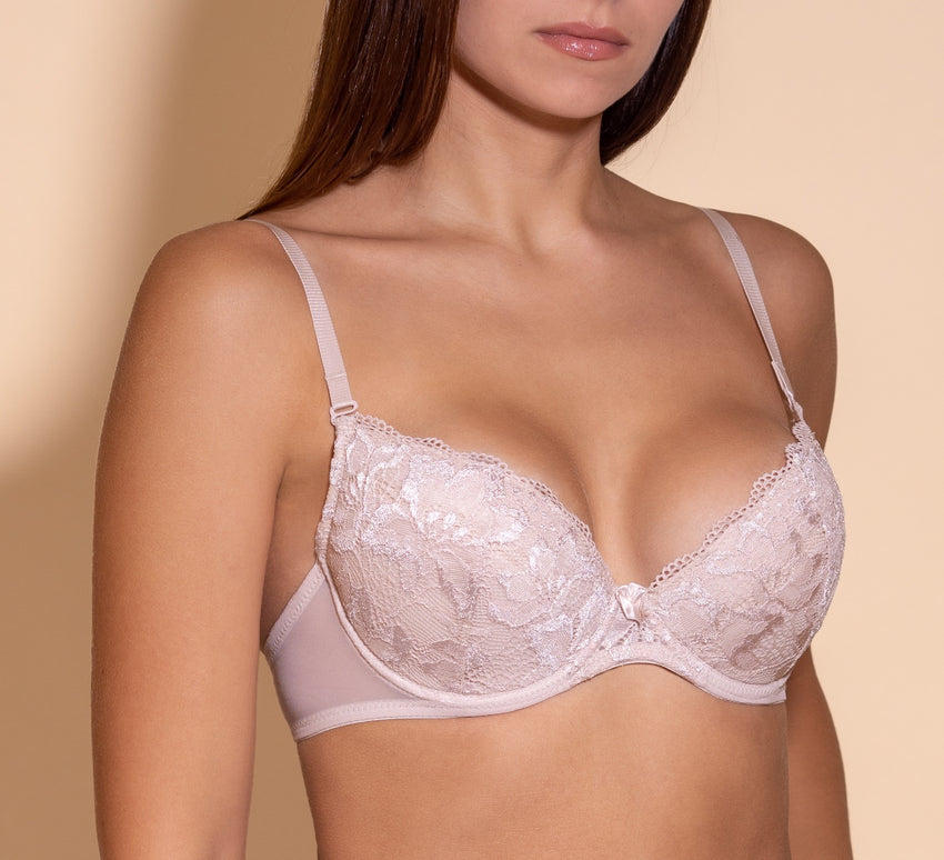 Women's Push up Bra, Light beige color (88983)