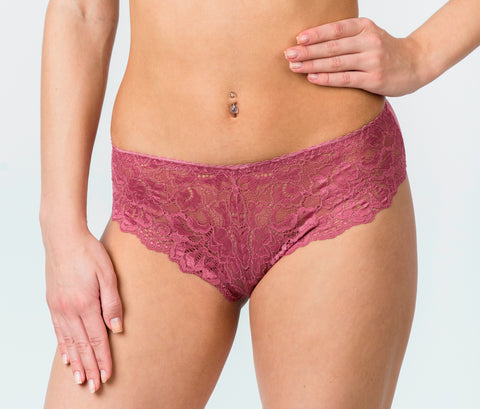 Shante Lingerie Women's Rose Color Sexy Floral Panties