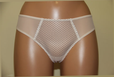 Women's middle rise polka dot pattern thongs, size 40 (117-4)