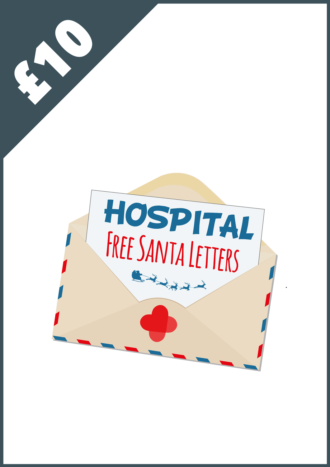 Donate £10 - Free Santa Letters for Children in Hospital