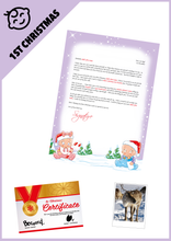 Load image into Gallery viewer, Personalised-Santa-Letter-Pack-Graphic-Babies-1st-Letter