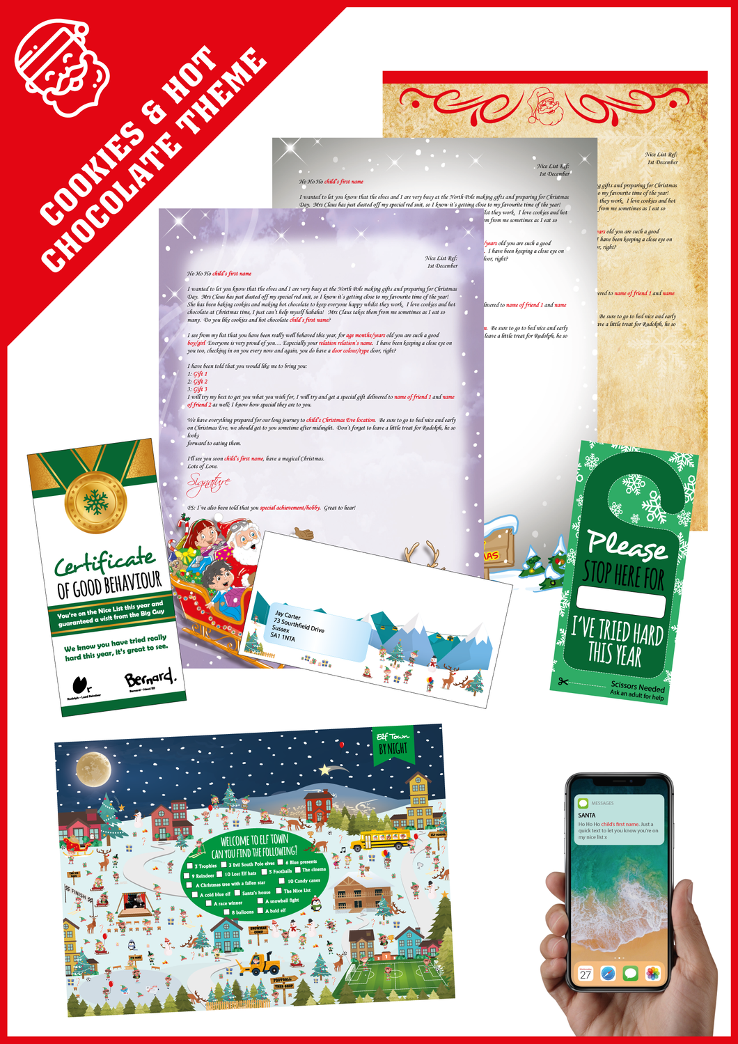 Personalised Santa Letter and Extra's - Cookies & Hot Chocolate