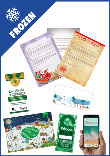 Personalised Santa Letter and Extra's - Santa Loves Frozen