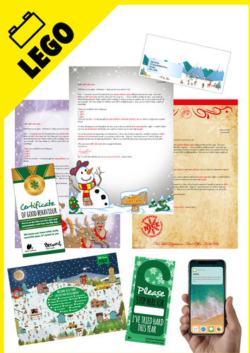 Personalised Santa Letter and Extra's - Santa Loves Lego