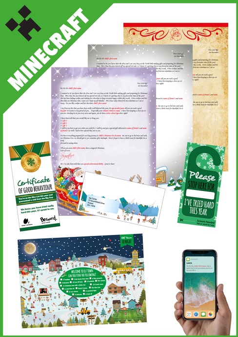 Personalised Santa Letter and Extras - Ideal for Minecraft Fans