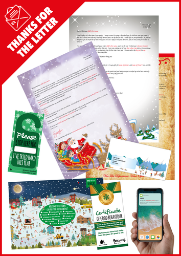Personalised Santa Letter and Extra's - Thanks For Your Letter