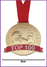 Load image into Gallery viewer, Santa Top 100 Medal - Proof They Are In Santa's Top 100