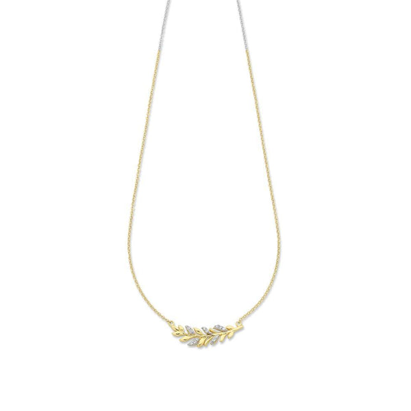 9Ct Gold Cubic Zirconia Necklet