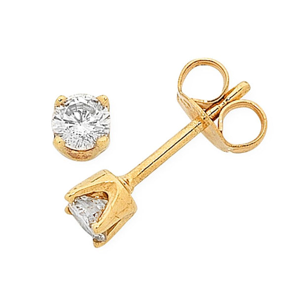 9Ct Gold 0.045Ct Diamond Studs