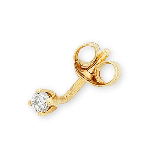 9Ct Gold 0.05Ct Diamond Stud