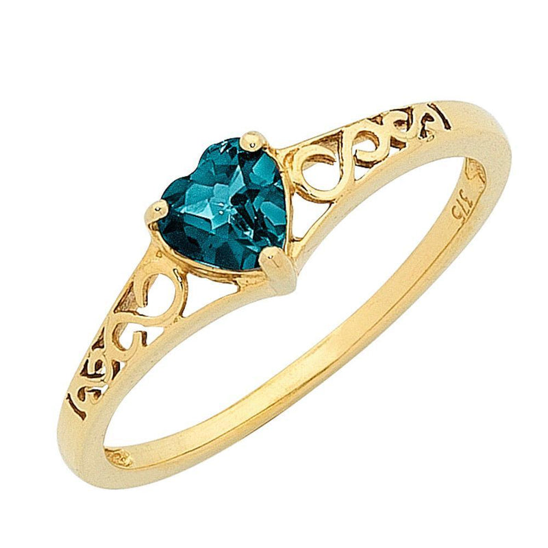 9Ct Gold London Blue Topaz Ring