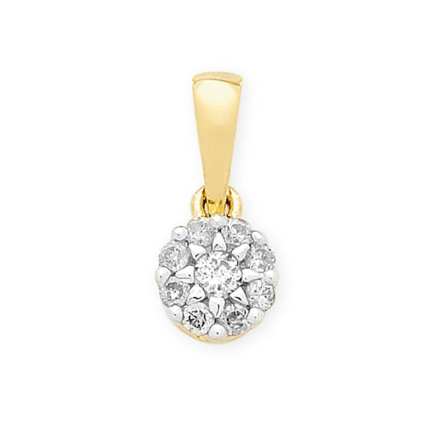 9Ct Gold 0.25Ct Diamond Pendant