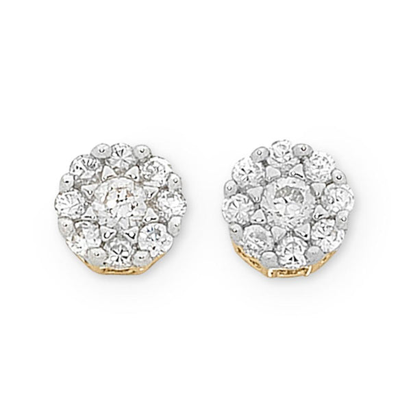 9Ct Gold 0.20Ct Diamond Stud Earrings