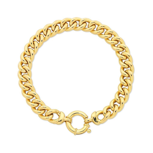 9Ct Gold Silver Filled Curb Bracelet