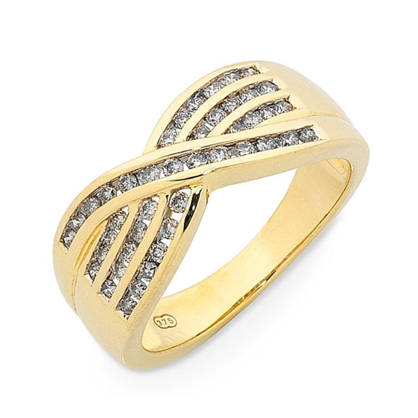 9Ct Gold 0.50Ct Diamond Set Ring