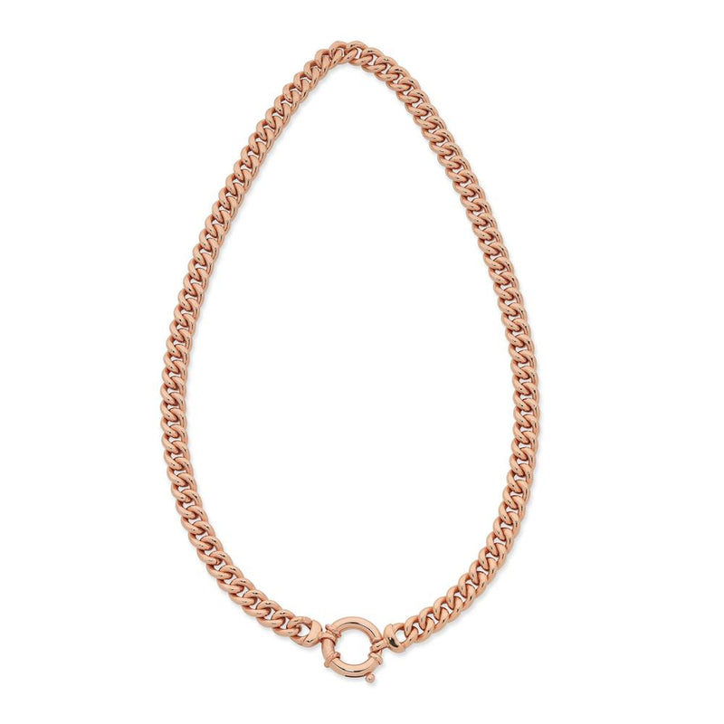 9Ct Rose Gold Silver Filled 45Cm Chain With 9Ct Rose Gold Clasp
