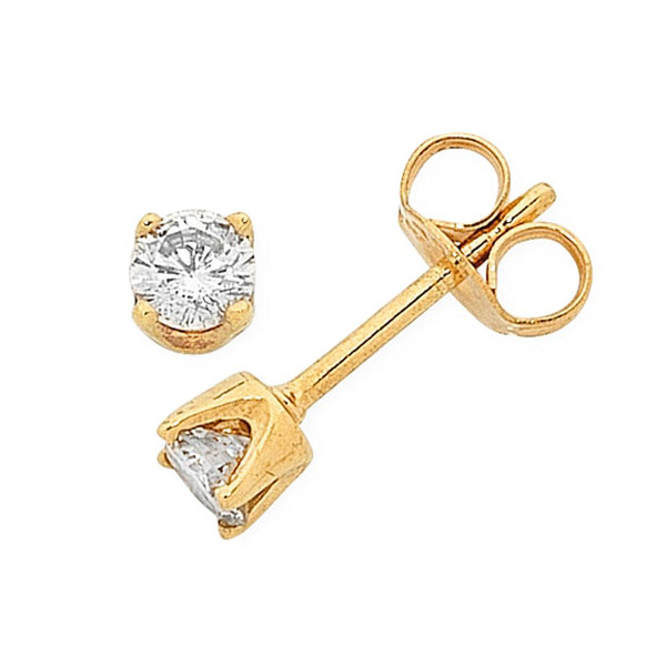9Ct Gold 0.12Ct Diamond Studs