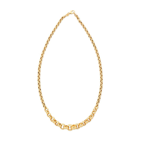9Ct Gold Silver Filled Graduated Belcher Chain