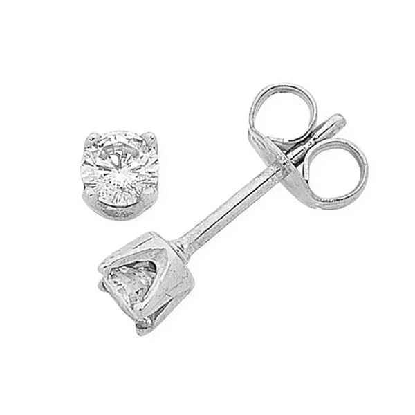 9Ct White Gold 0.20Ct Diamond Studs