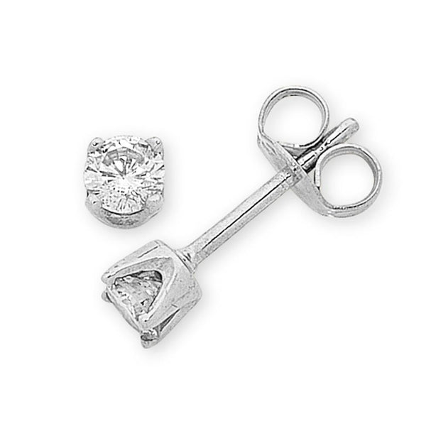 9Ct White Gold 0.12Ct Diamond Studs