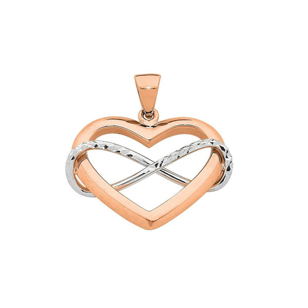 9Ct Rose Gold Two Tone Pendant