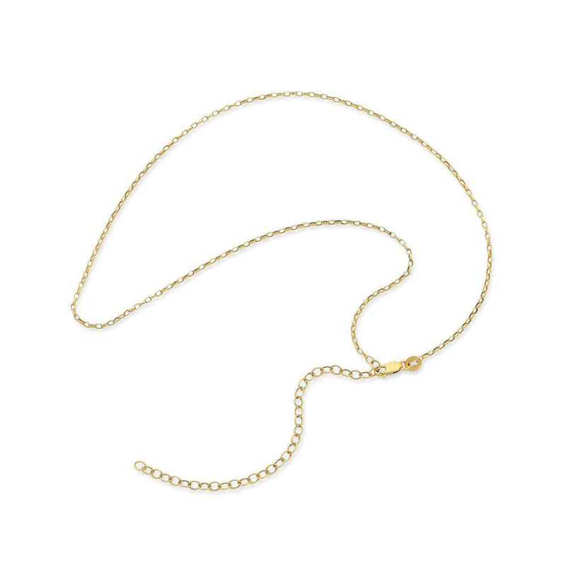 9Ct Gold Silver Filled 40Cm Chain With Extension