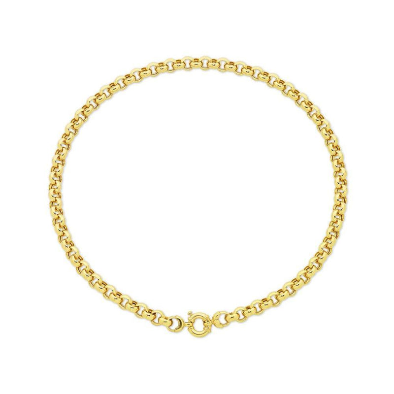 9Ct Gold Silver Filled 45 Cm Necklet With 9Ct Gold Bolt Ring