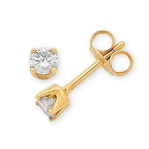 9Ct Gold 0.20Ct Diamond Studs