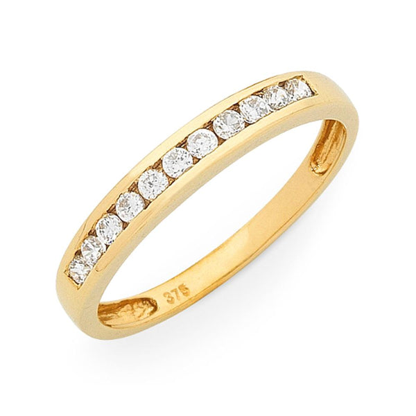 9Ct Gold 0.25Ct Diamond Channel Set Ring