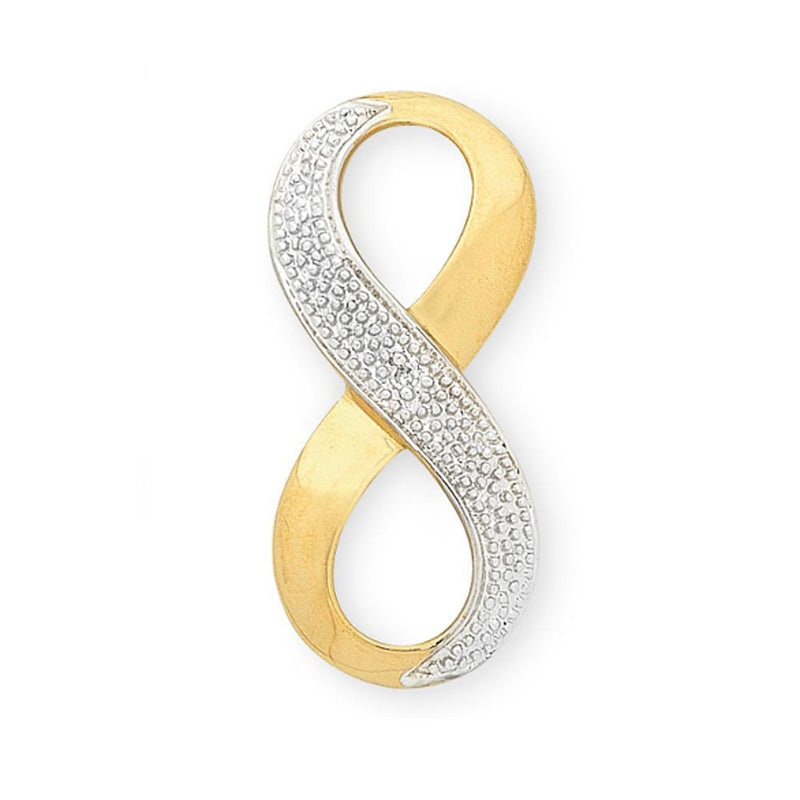 9Ct Gold Diamond Infinity Pendant