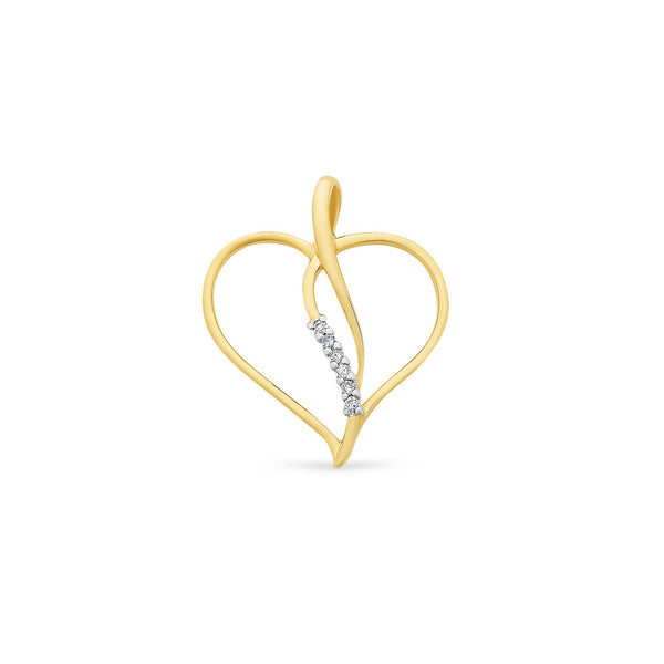 9Ct Gold Diamond Set Pendant