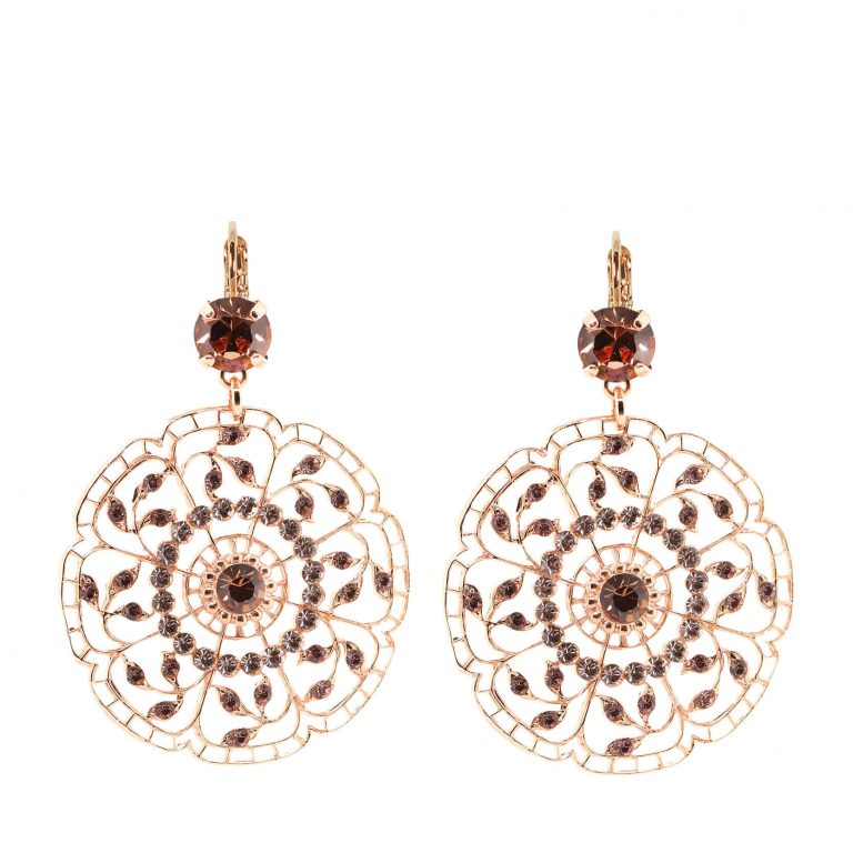 Mariana - Butterfly Lace Leopard Crystal Drop Earrings