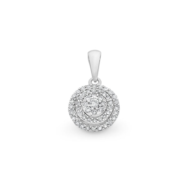 9Ct White Gold 0.20Ct Diamond Pendant