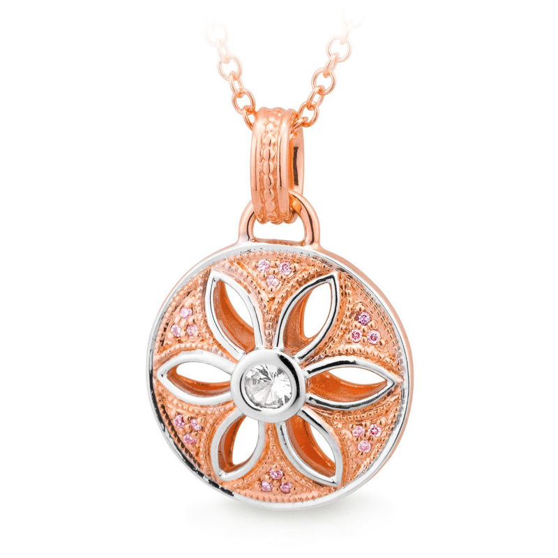 PINK CAVIAR 0.136ct Pink Diamond Pendant in 9ct Rose Gold