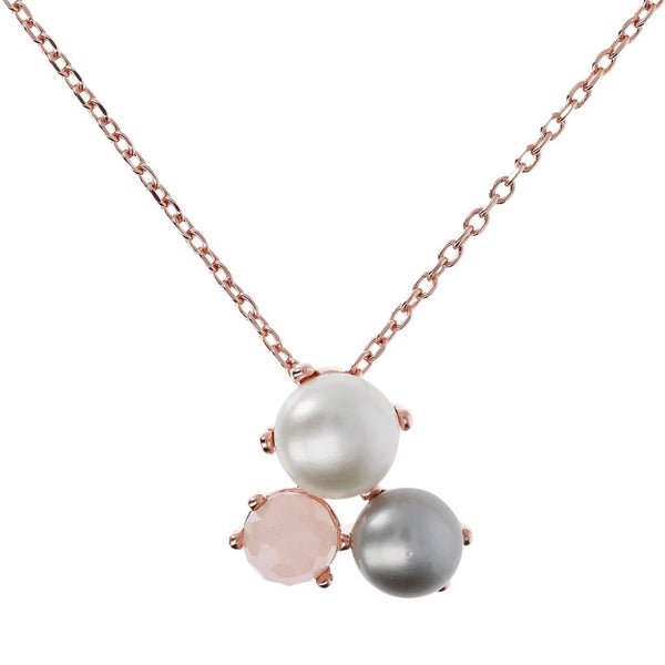 Bronzallure Pearl Small Cluster Necklace