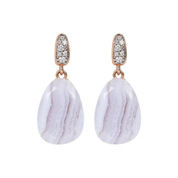 Bronzallure Preziosa Earrings With Natural Stone