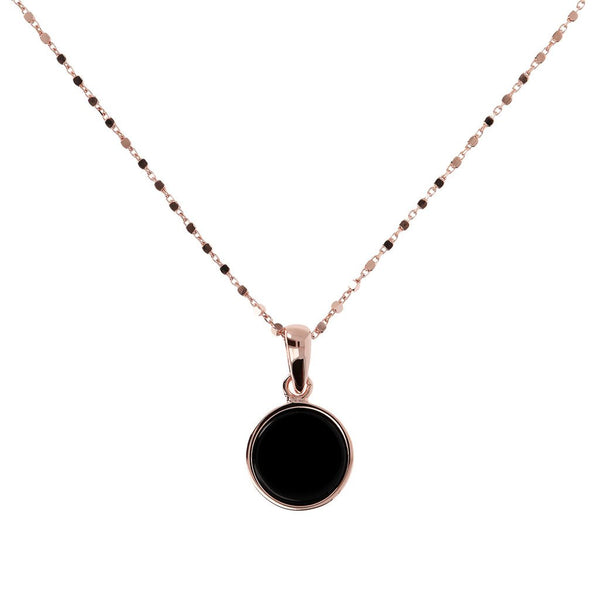 Bronzallure Small Disc Pendant Necklace
