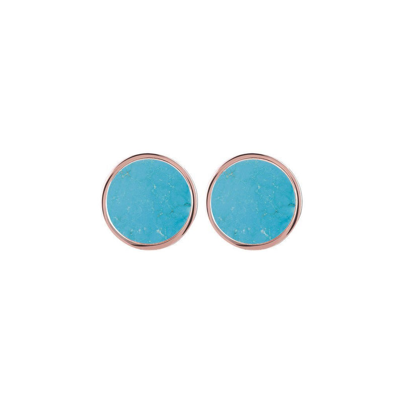 Bronzallure Stud Button Earrings