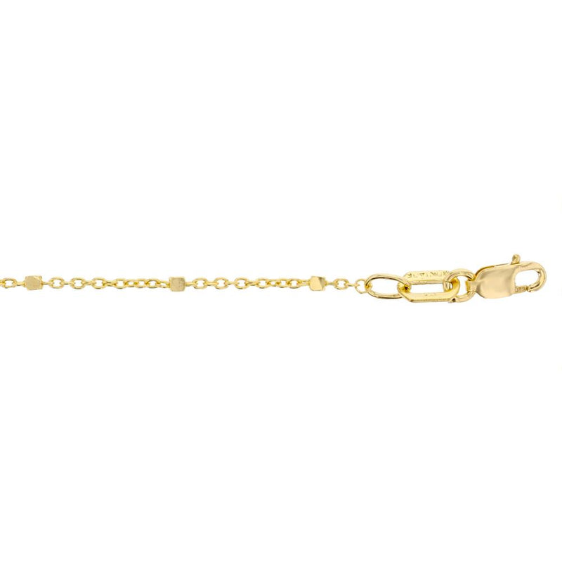 Fancy Square Ball Link Chain in 9ct Gold