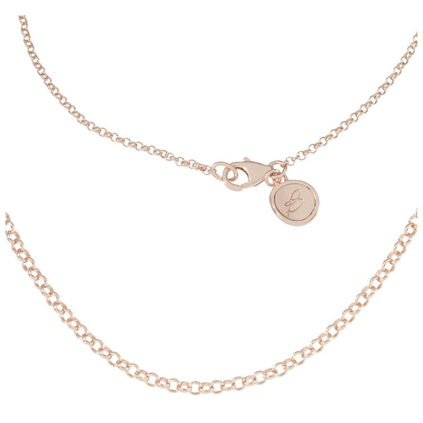 Bronzallure Round Rolo Link Chain For Charms