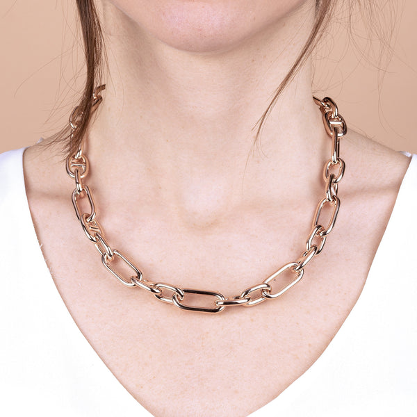 Bronzallure Oval Chain Necklace