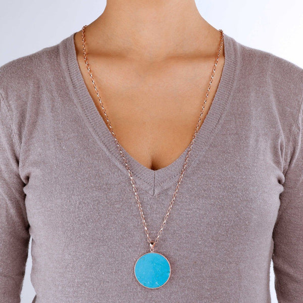 Bronzallure Magnesite Big Disc Necklace