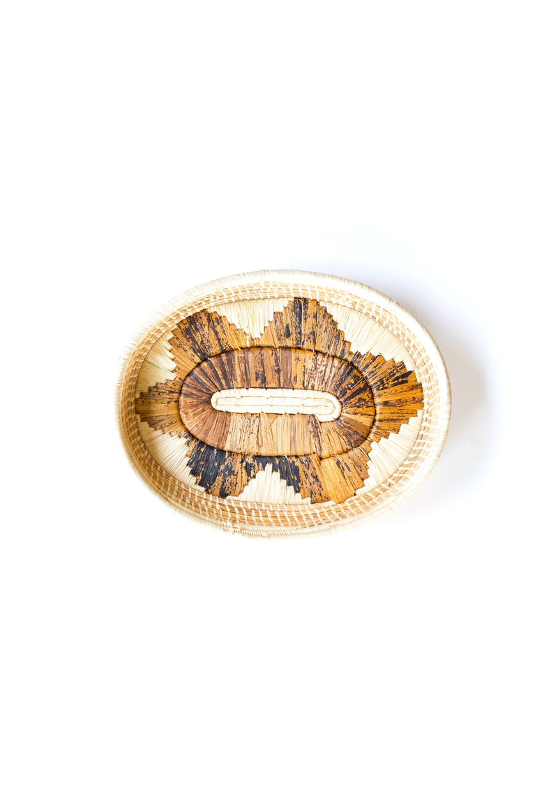 Banana Fibre Oval Tray - Brown