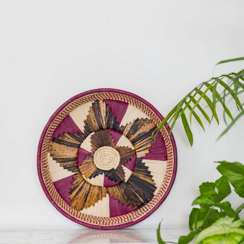 Banana Fibre Round Tray - Medium.