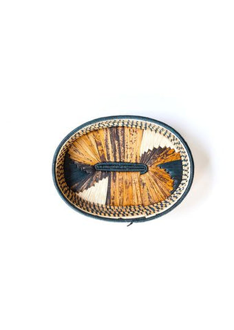 Banana Fibre Oval Tray - Dark Green