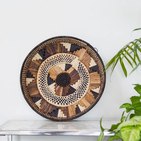 Banana Fibre Round Trays - Big.