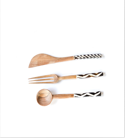 Handmade from Olive Wood Cutlery Set