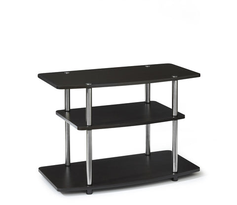 Espresso Three Tier Stand with Stainless Steel Supports
